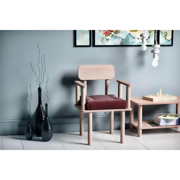 Magnesia Kolçaklı Sandalye Bordo